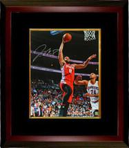Jahlil Okafor signed Philadelphia 76ers 16x20 Photo Custom Framed (red j... - $123.95
