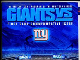 NY Giants 1st Game MetLife Stadium Program-New Meadowlands Stadium-First... - $29.99