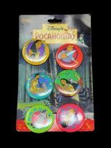 Vintage Disney's Pocahontas Buttons Lot Pinback Set of 6 Meeko, John Smith - $14.95