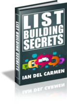 List Building Secrets by Ian del Carmen - ebook - $1.79