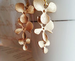 Matte gold orchid trio earrings gold orchid earri1 thumb155 crop