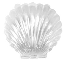 12 Medium Plastic Shell Candy Boxes favors CLEAR - $4.53