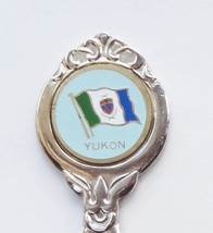 Collector Souvenir Spoon Canada Yukon Flag Emblem Goldtone - $6.99