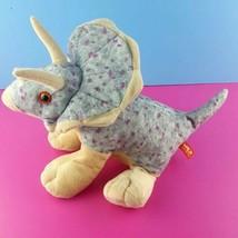 "Wild Republic Plush Triceratops Dinosaur 12"" Stuffed Animal Stegasaurus #A3 - $14.84"