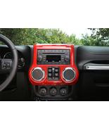 Red Car Interior Center Dash Board Console Trim fit for Jeep Wrangler 11... - $92.13