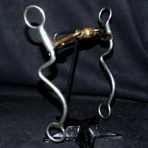 Retired Reinsman Copper Roller Dogbone Snaffle Seven 7 Shank Stage D Bit... - $119.99