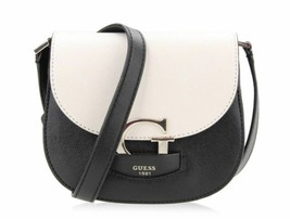 Guess NWT $88 Stone Black Shoulder Hand Bag Lexxi Magnetic Flap Pebbled Gold - $57.92