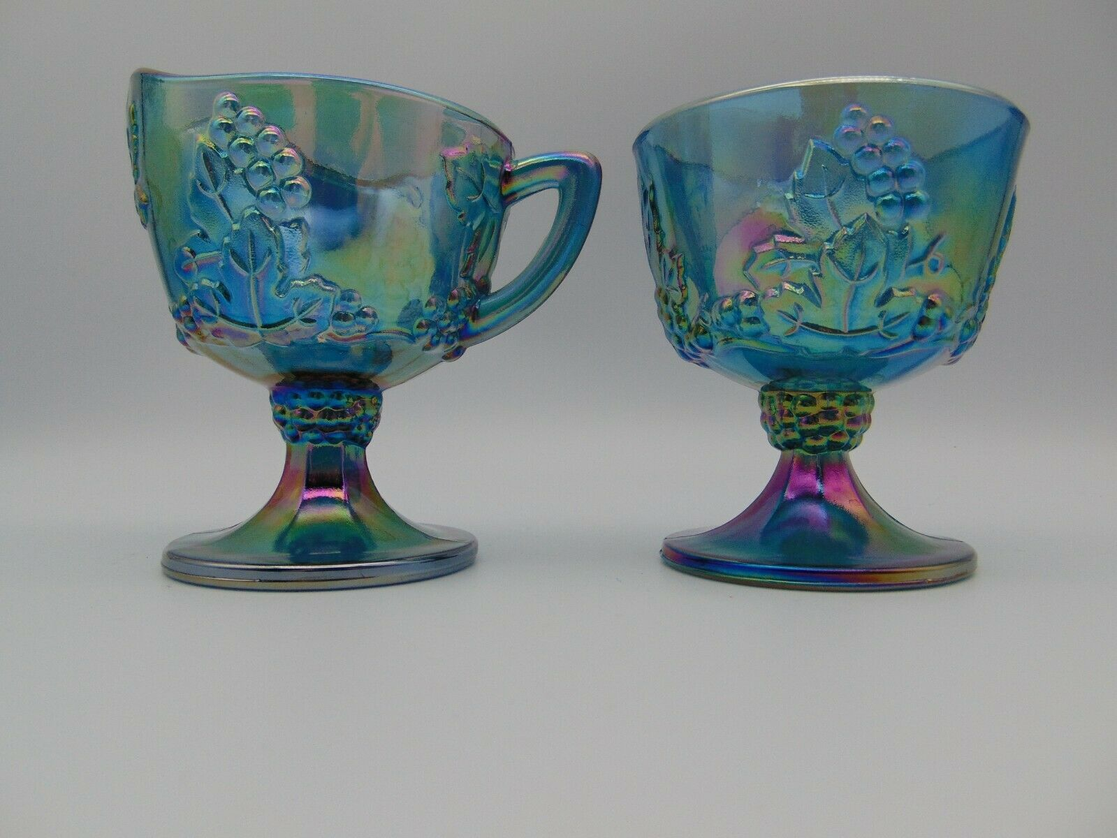 Vintage Indiana Glass Blue Harvest Grape and 21 similar items