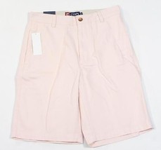 Chaps Flat Front Pink Casual Cotton Shorts Mens NWT - $37.49