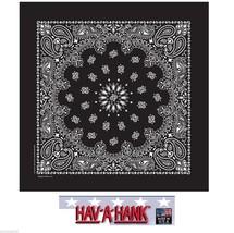 *USA MADE HavAHank BLACK Bandana PAISLEY Face Mask Neck SCARF Scarve Hea... - $9.99