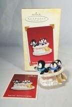 HALLMARK ARCTIC ADVENTURERS 2005 CHRISTMAS  ORNAMENT SS ICEBERG PENGUINS... - $16.99