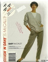 McCall's Sewing Pattern 4623 Misses Womens Cardigan Sweater Pants 6 8 10... - $9.99