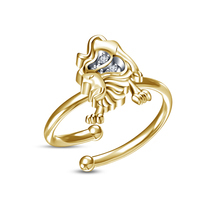 0.3 Cts Round Sim Diamond Leo Zodiac Sign Adjustable Toe Ring 14K Yellow... - £11.99 GBP