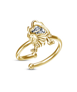 0.3 Cts Round Sim Diamond Leo Zodiac Sign Adjustable Toe Ring 14K Yellow... - ₹1,196.22 INR