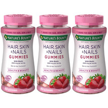3 Pack - Nature's Bounty Hair, Skin and Nails, Biotin, Gummies 80 Count Each - $27.99