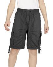 Boys Elastic Waist Drawstring Multi Pocket Cotton Toddler Kids Cargo Shorts image 8