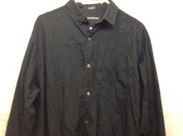 Men's Calvin Klein Sport Long Sleeve Black Collared Dress Shirt Sz XL image 2