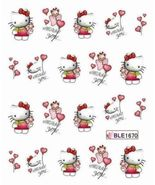 BANG STORE Nail Art Water Decals Hello Kitty Miss You Balloons Teddy Bea... - $2.12