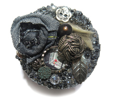 """Handmade Brooch """"Entering another world"""" Pin Jewelry Decoration Jeans Ac... - $69.00"""