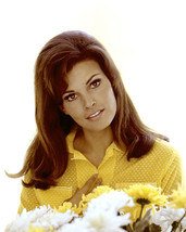 Raquel Welch Yellow Dress by Flowers Long Hair 60's Pose 16x20 Canvas - $69.99