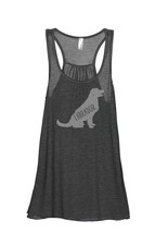 Thread Tank Labrador Dog Silhouette Women's Sleeveless Flowy Racerback T... - $24.99+