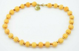 Genuine Orange Sponge Coral Bead Beaded Choker Necklace Vintage - $24.74