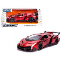 Lamborghini Veneno Candy Red 1/24 Diecast Model Car by Jada 99325 - $37.09