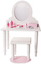 18 Inch Doll Vanity and Stool Set with Makeup Accessories- Playtime by E... - $29.59