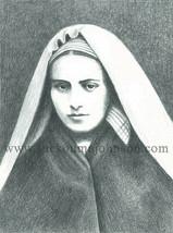 """ST. BERNADETTE of LOURDES—pencil—11x14""""—Catholic Art Print—Confirmation ... - $23.95"""