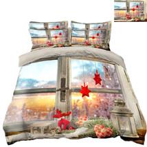 3D Christmas  Xmas 2113 Bed Pillowcases Quilt Duvet Cover Set Single Queen King - $90.04+