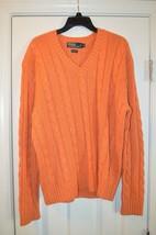 Polo Ralph Lauren Men's Orange Silk Sweater, US XL - $75.00