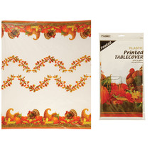 54 Inchx108 Inch Printed Harvest Design Table Cover 1 Design/Case of 36 - £68.13 GBP