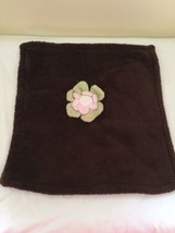 CoCaLo Flower Security Blanket Lovey Brown Soft - $17.82