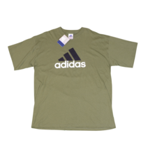 NOS Vintage 90s Adidas Mens XL Big Logo Spell Out Short Sleeve Shirt Mos... - $54.40