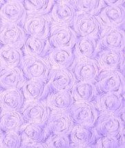 Lilac Minky Rose Swirl Fabric - by the Yard - $16.15