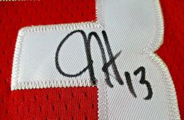 JAMES HARDEN / AUTOGRAPHED HOUSTON ROCKETS RED PRO STYLE BASKETBALL JERSEY / COA image 6