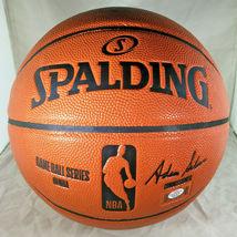 KYRIE IRVING / BROOKLYN NETS / AUTOGRAPHED FULL SIZE NBA LOGO BASKETBALL / COA image 4