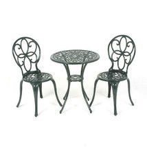 3 Pcs Small Bistro Set 2 Seater Outdoor Garden Patio Coffee Tea Table W/... - $168.70