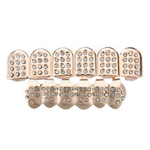 Fine Brass Metal Plated w/14k Gold Tone Plating Rhinestone - One Set Rose Gold image 3