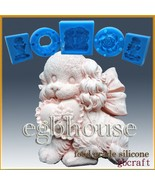 Silicone Soap/sugar/fondant/chocolate Mold-Fluffy Puppy with Heart Shape... - $32.00