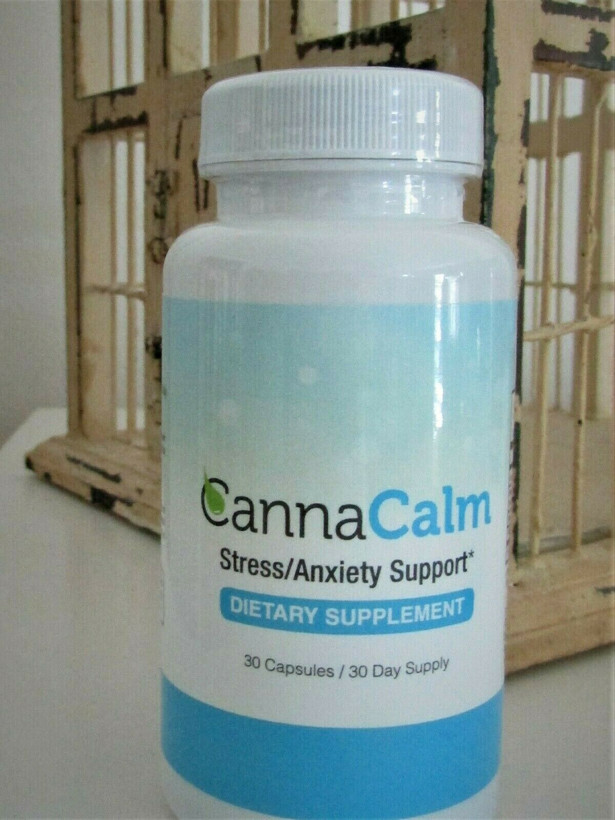 NEW CannaCalm Stress/Anxiety Support~Dietary Supplement~30 Caps~30 Day Supply