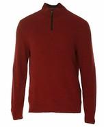 Tasso Elba Men's Red Velvet Men 1/2 Zip Textured Knit Pullover Sweater - $25.99
