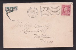 SARANAC LAKE, NY DECEMBER 20 1916 FLAG CANCEL WITH CHRISTMAS CARD - $3.98