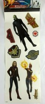 Captain Marvel Wall Decals Vinyl Set of 9 Roommates Stickers Kids Room Man Cave - $9.58