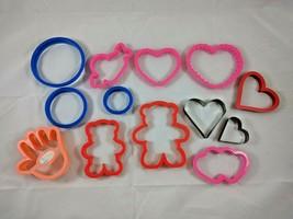 Valentine Plastic &  Metal Cookie Cutters Molds Preschool  - $7.38
