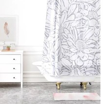 "DENY Designs Lisa Argyropoulos Daisy Dove  Shower Curtain Nwop 71""x74"" Gray - $26.99"