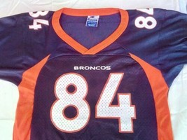 Vintage Shannon Sharpe #84 Denver Broncos Champion Football Jersey Youth Small 8 - $14.85