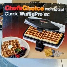 Chef's Choice Waffle Maker 852 Classic Waffle Pro 2 square sections non ... - €25,87 EUR