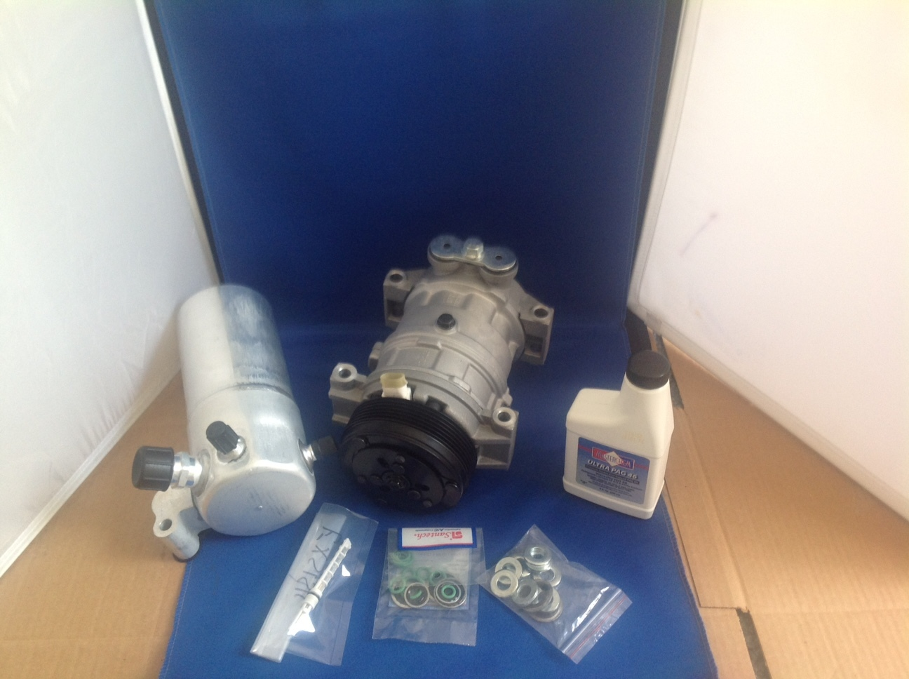 99 02 chevy express 4.3 silverado c1500 ac air conditioning compressor kit  1
