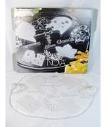 """Studio Nova Normandy Oval Glass Cheese Platter Clear Frosted 16 1/4"""" Ger... - $55.43"""
